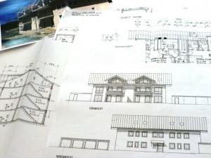 Unterlagen für eine 3D-Architekturvisualisierung