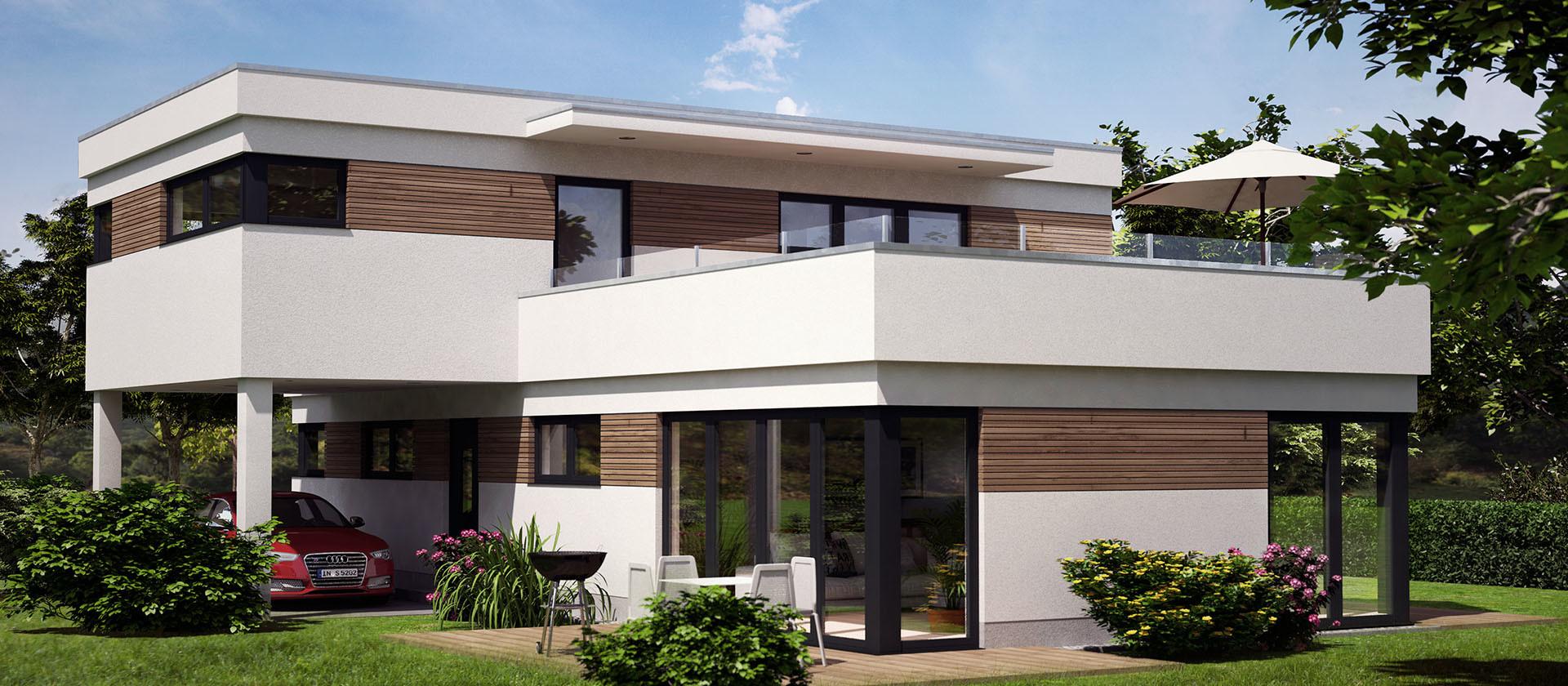 Architektur Visualisierung eines modernen Hauses in München Poing